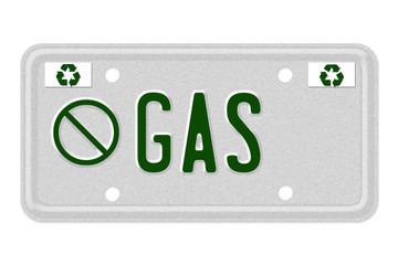 No Gas Car  License Plate