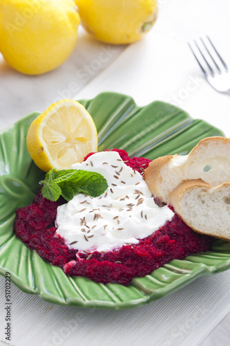 cold red beet cream