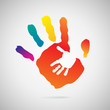Hand Print icon, vector illustration