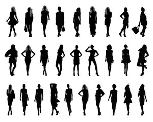 Silhouettes of fashion-vectors