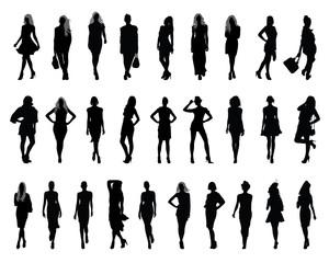 Silhouettes of fashion-vectors