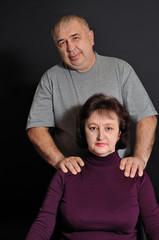 man does massage woman