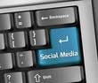 """Keyboard Illustration """"Social Media"""""""