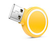 USB Flash Drive. 3d image