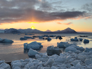 Sunset in the Arctic - Svalbard, Spitsbergen