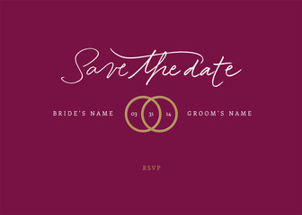 Handmade calligraphy Save the Date RSVP