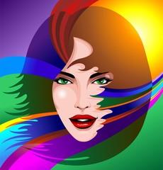 Rainbow Girl Portrait-Ritratto Ragazza Arcobaleno