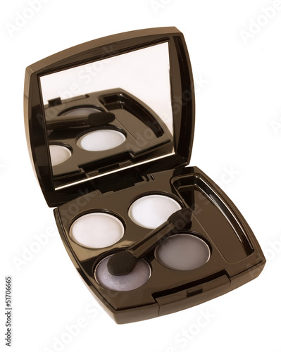 grey and white make-up eyeshadows