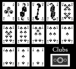 clubs cards
