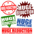 Set of huge reduction stamps