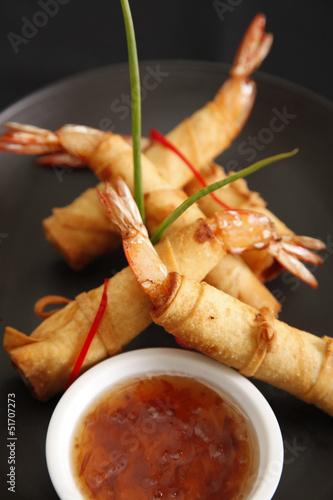 Crispy shrimp Spring rolls