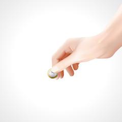 Hand euro