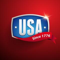 Vector USA badge / poster
