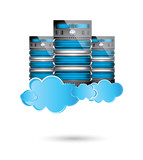 Servers datacenter,cloud computing concept