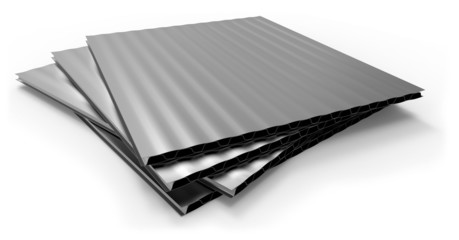 Metal corrugated sandwich panel