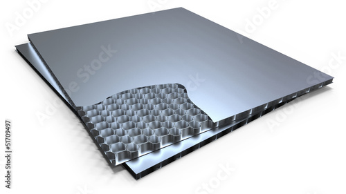 Metal honeycomb panel