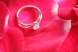 Ring with red  flower