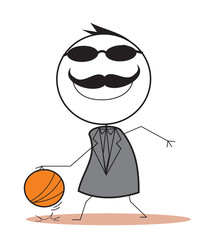 Businessman Basket Ball