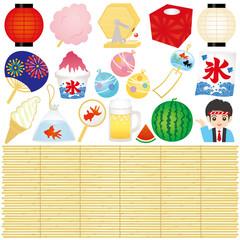 日本の夏 イベント 広告 イラスト