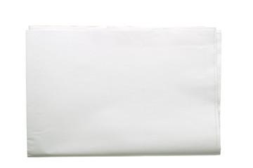 Blank folded newspaper