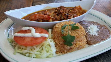 Mexican Dish Seafood Plate