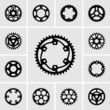 Set of sprockets