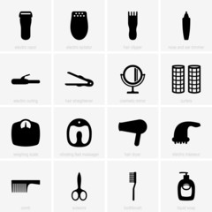 Set of personal care icons