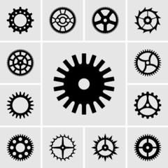 Set of cogwheels