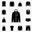 Set of man clothers icons (part 2)