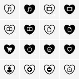 Set of favourite icons