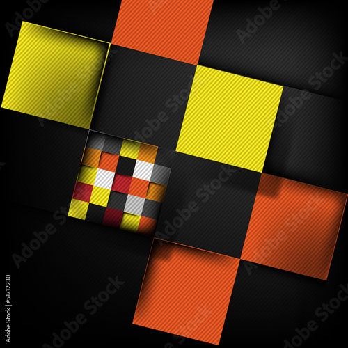 Design blocks structure in black background