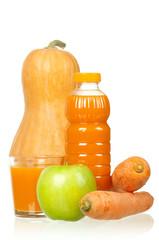 Carrot, pumpkin and apple juice