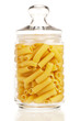 Pasta in glass pot