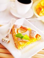 pie with peach