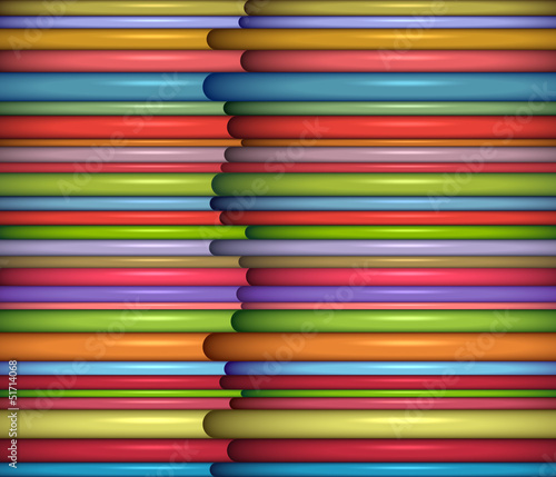 abstract glossy coil backdrop in rainbow color