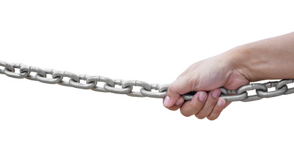 hand holding chain