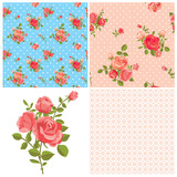 Floral rose patterns