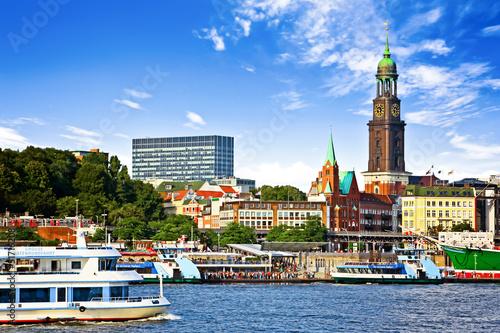 Keuken foto achterwand Poort Blick auf St. Pauli und den Hafen - Hamburg