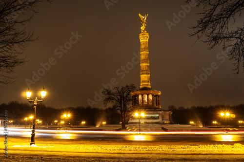 Fototapeten,berlin,winter,siegessäule,schnee
