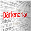 "Nuage de Tags ""PARTENARIAT"" (business affaires projets contrats)"