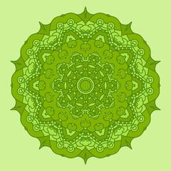 Vector Green Round Decorative Design Element