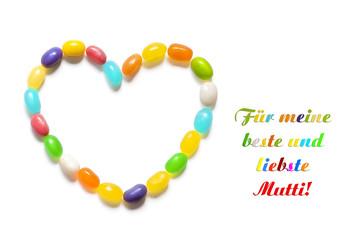 """""""Für meine beste u. liebste Mutti"""" Muttertagskarte"""