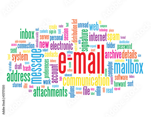 """E-MAIL"" Tag Cloud (electronic message inbox address internet)"