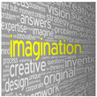 """IMAGINATION"" Tag Cloud (ideas teamwork brainstorming dream)"