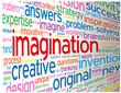 """IMAGINATION"" Tag Cloud (ideas teamwork creativity dream smart)"