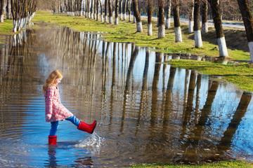 girl in spring park