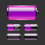 Vector set of battery charge