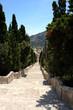 Calvary steps looking down