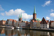 Old center of Lubeck, Schleswig-Holstein, Germany