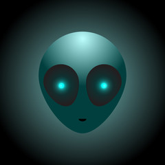 Vector alien head